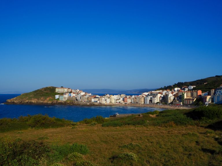 Malpica main fishing harbour in death coast